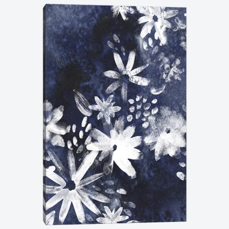 Indigo Floral Gesture I Canvas Print #JEV931} by June Erica Vess Canvas Artwork