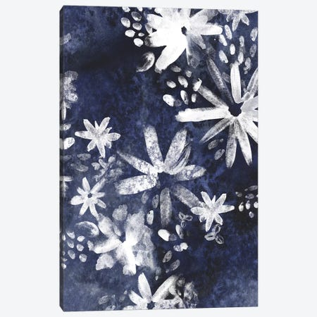 Indigo Floral Gesture II Canvas Print #JEV932} by June Erica Vess Canvas Artwork