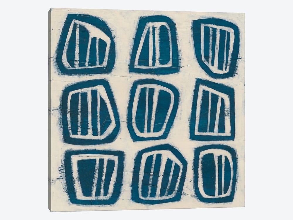 Indigo Signals III by June Erica Vess 1-piece Canvas Art