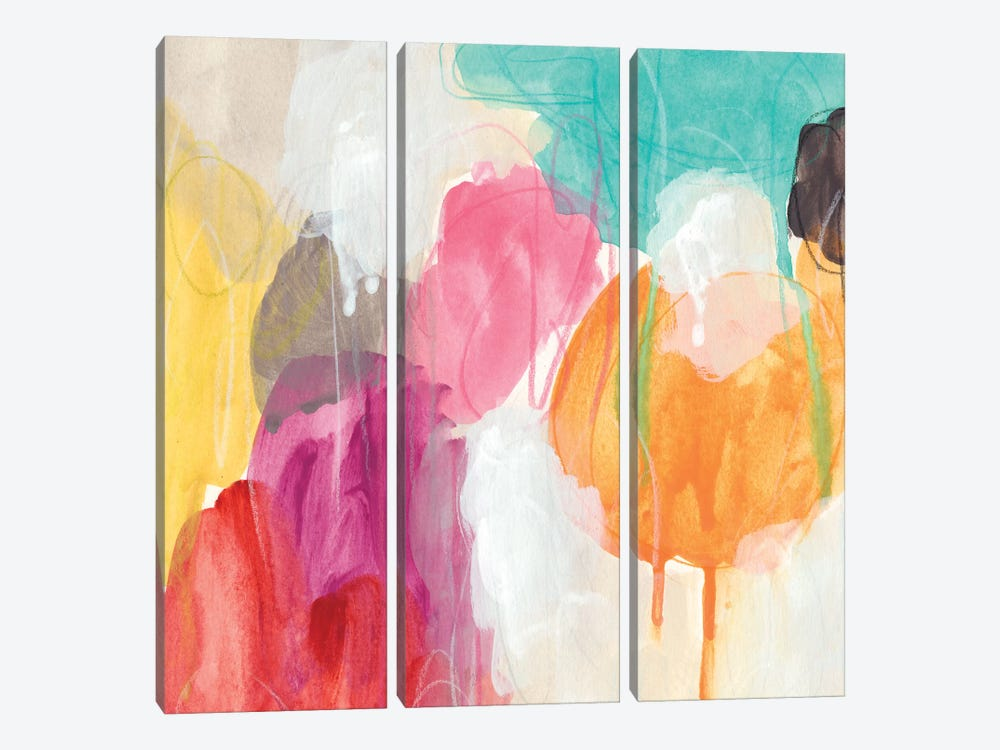 Ipso Facto I by June Erica Vess 3-piece Canvas Wall Art