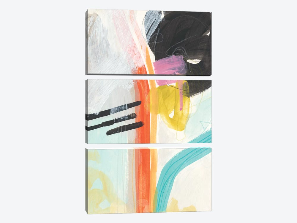 Rhythm Variations I by June Erica Vess 3-piece Canvas Art Print
