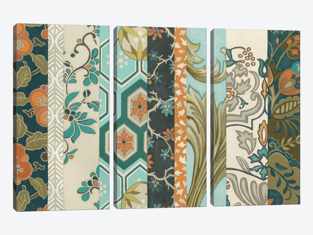 Textile Strata I by June Erica Vess 3-piece Canvas Artwork
