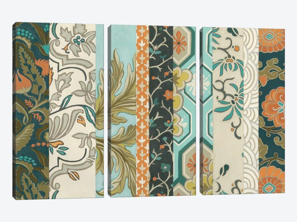 Textile Strata II by June Erica Vess 3-piece Canvas Print