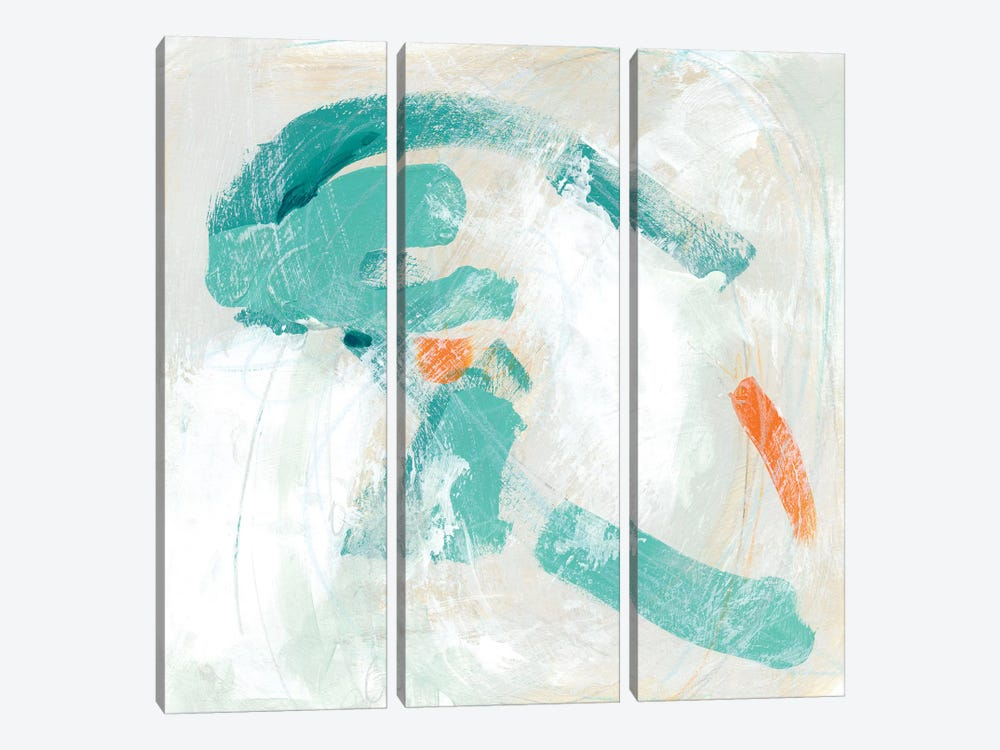 Tidal Current II by June Erica Vess 3-piece Canvas Art Print