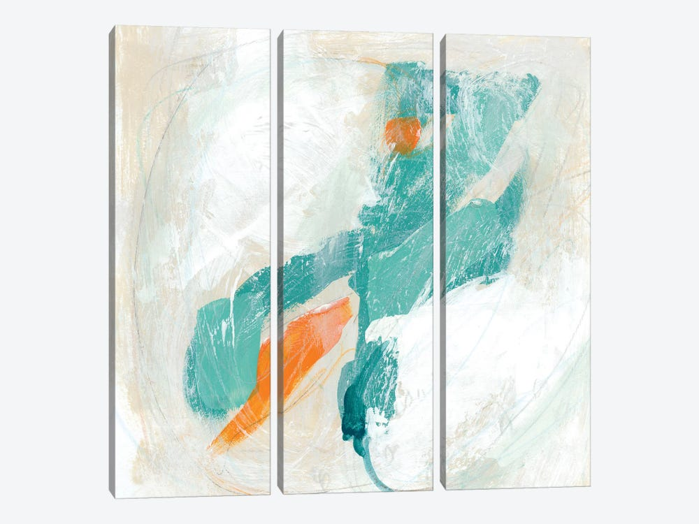 Tidal Current III by June Erica Vess 3-piece Canvas Wall Art