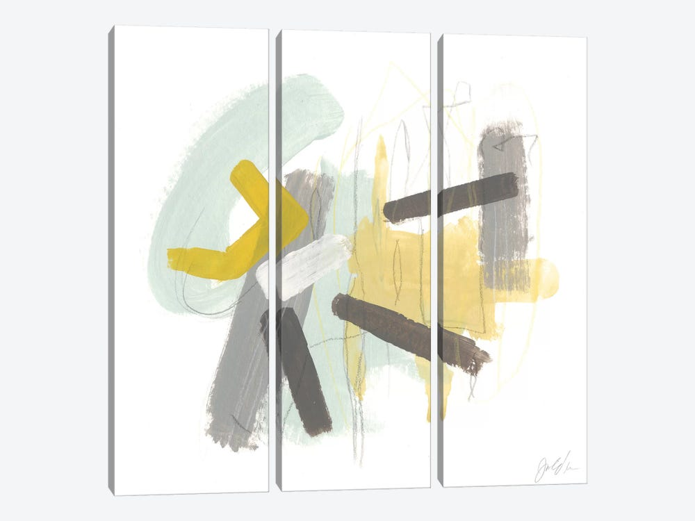 Tonal Frequency II by June Erica Vess 3-piece Canvas Artwork