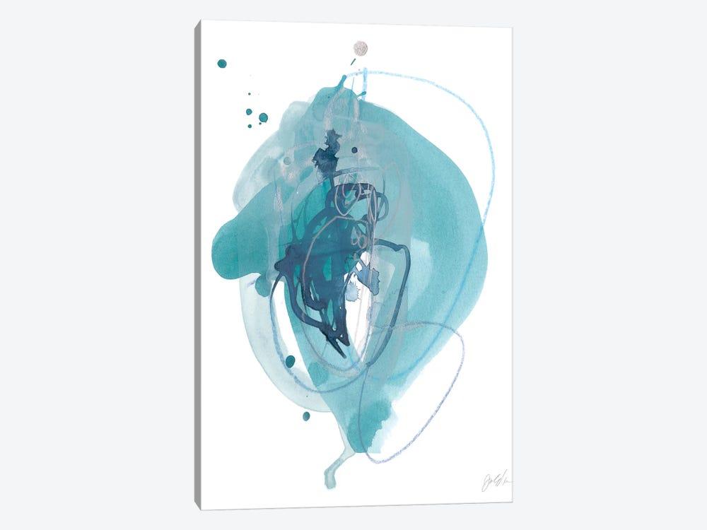 Aqua Orbit I by June Erica Vess 1-piece Canvas Art