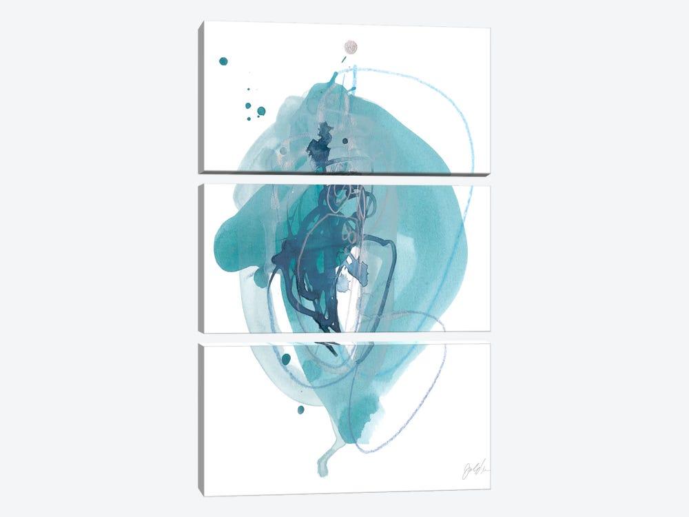 Aqua Orbit I by June Erica Vess 3-piece Canvas Art