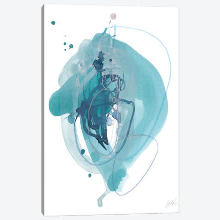 Aqua Orbit I Canvas Print #JEV993} by June Erica Vess Canvas Artwork