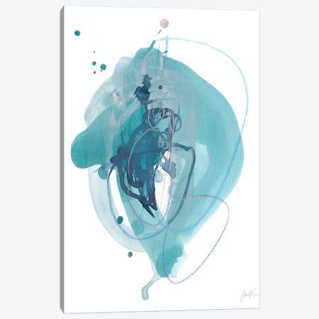 Aqua Orbit I Canvas Print #JEV993} by June Erica Vess Canvas Artwork
