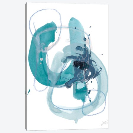 Aqua Orbit II Canvas Print #JEV994} by June Erica Vess Canvas Print