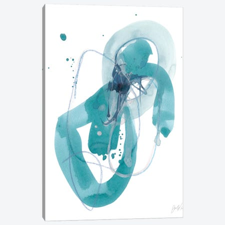 Aqua Orbit III Canvas Print #JEV995} by June Erica Vess Art Print