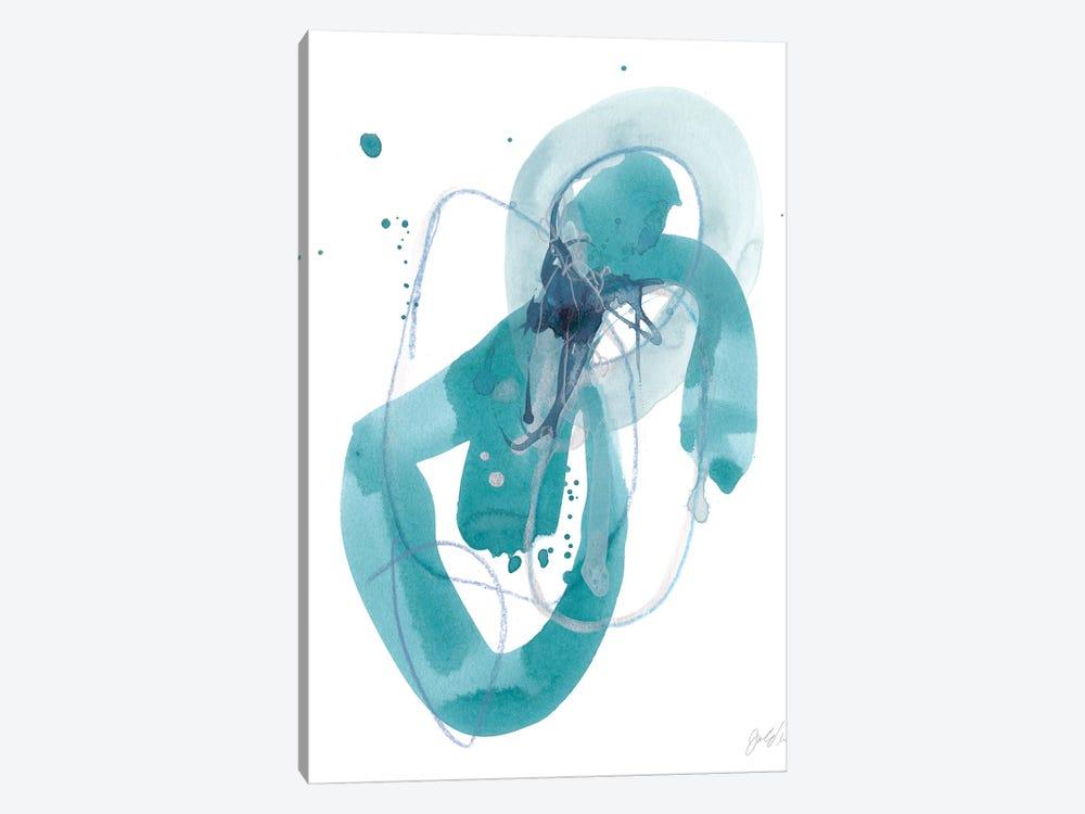 Aqua Orbit III by June Erica Vess 1-piece Canvas Art