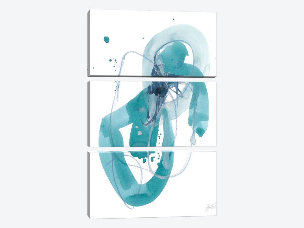 Aqua Orbit III by June Erica Vess 3-piece Canvas Artwork