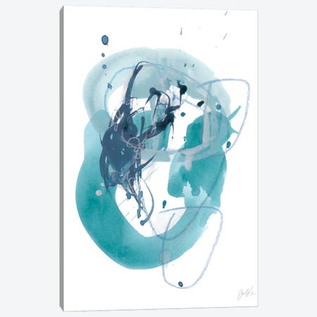 Aqua Orbit IV Canvas Print #JEV996} by June Erica Vess Art Print