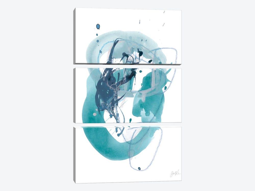Aqua Orbit IV by June Erica Vess 3-piece Canvas Art Print