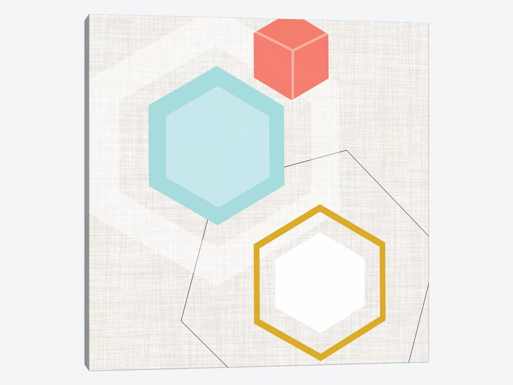 Mod Geometry I 1-piece Canvas Art