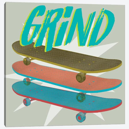 Sk8R I Canvas Print #JFA26} by Jarman Fagalde Canvas Artwork