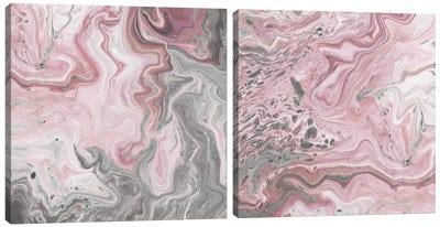 Blush Minerals Diptych Canvas Art Print