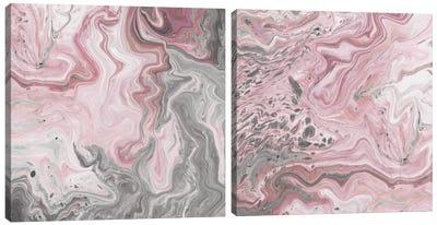 Blush Minerals Diptych Canvas Art Print