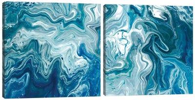 Indigo Minerals Diptych Canvas Art Print