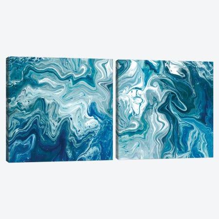 Indigo Minerals Diptych Canvas Print Set #JFA2HSET002} by Jarman Fagalde Art Print