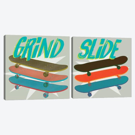 Sk8R Diptych I Canvas Print Set #JFA2HSET003} by Jarman Fagalde Canvas Print