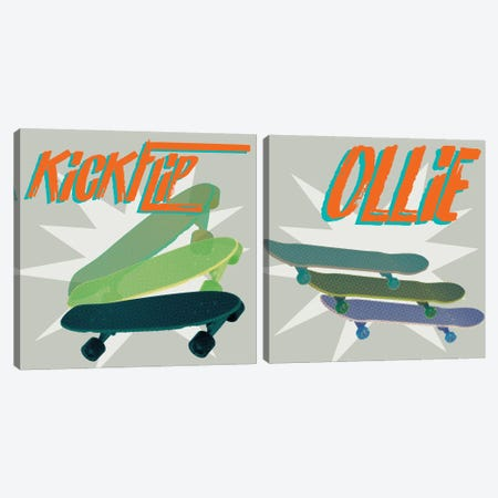 Sk8R Diptych II Canvas Print Set #JFA2HSET004} by Jarman Fagalde Canvas Art