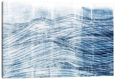Indigo Waves I Canvas Art Print