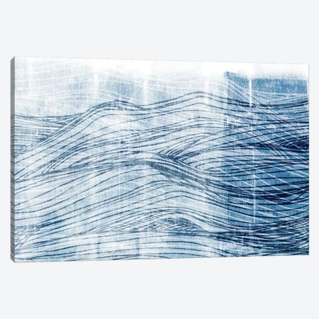 Indigo Waves I Canvas Print #JFA30} by Jarman Fagalde Canvas Artwork