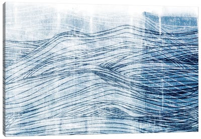 Indigo Waves I Canvas Art Print