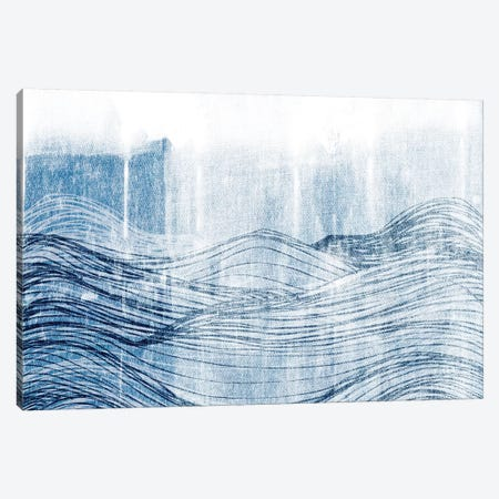 Indigo Waves II Canvas Print #JFA31} by Jarman Fagalde Canvas Art