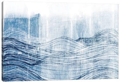Indigo Waves II Canvas Art Print