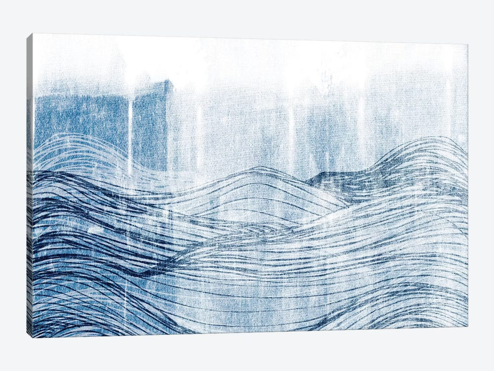 Indigo Waves II by Jarman Fagalde 1-piece Canvas Wall Art