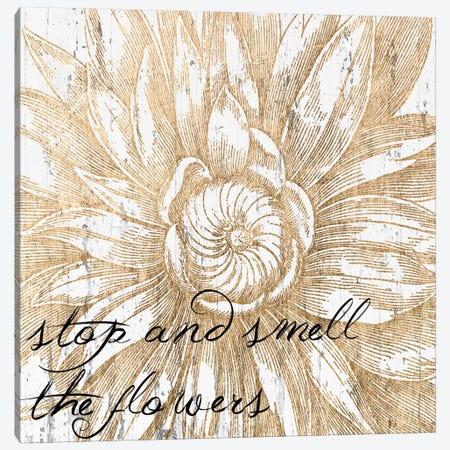 Metallic Floral Quote I Canvas Print #JFA5} by Jarman Fagalde Canvas Art Print