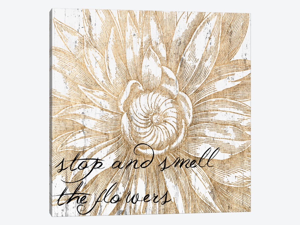 Metallic Floral Quote I 1-piece Canvas Artwork