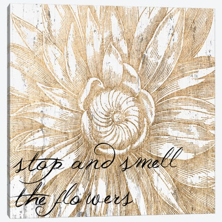 Metallic Floral Quote I Canvas Print #JFA5} by Jarman Fagalde Canvas Art Print