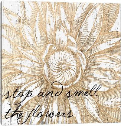 Metallic Floral Quote I Canvas Art Print
