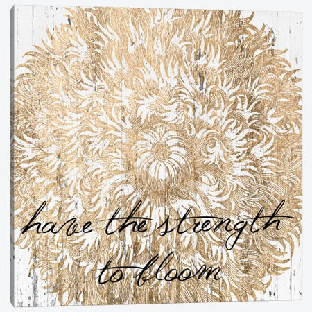 Metallic Floral Quote II Canvas Print #JFA6} by Jarman Fagalde Canvas Print