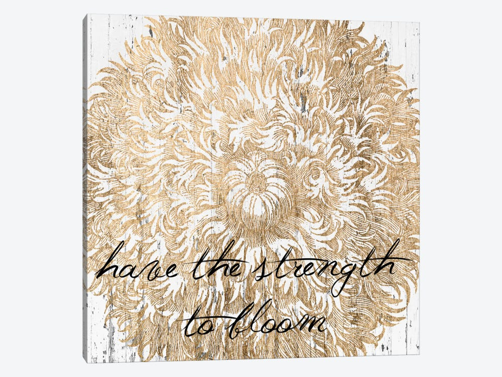 Metallic Floral Quote II by Jarman Fagalde 1-piece Art Print