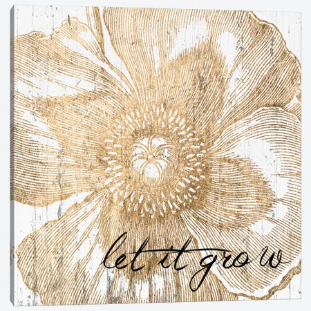 Metallic Floral Quote III Canvas Print #JFA7} by Jarman Fagalde Art Print
