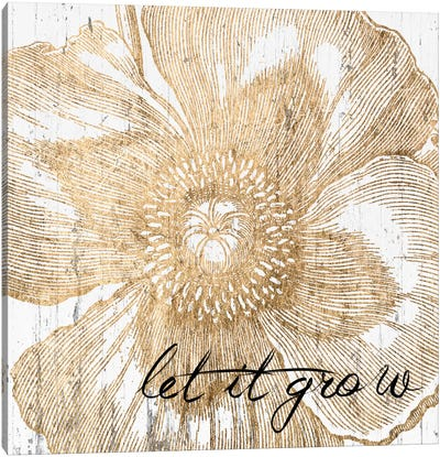Metallic Floral Quote III Canvas Art Print