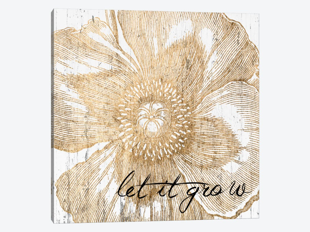 Metallic Floral Quote III by Jarman Fagalde 1-piece Canvas Wall Art
