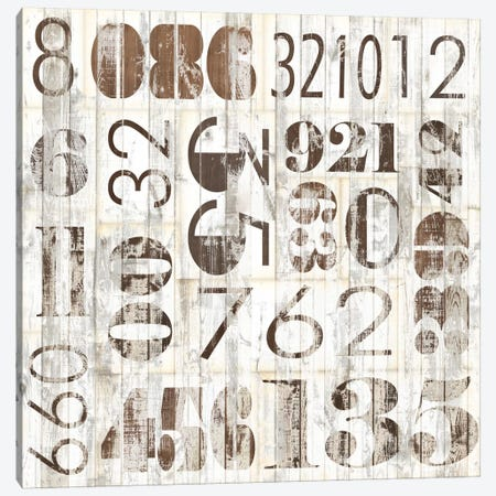 Weathered Numbers I Canvas Print #JFA8} by Jarman Fagalde Canvas Wall Art