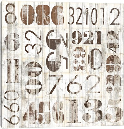Weathered Numbers I Canvas Print #JFA8