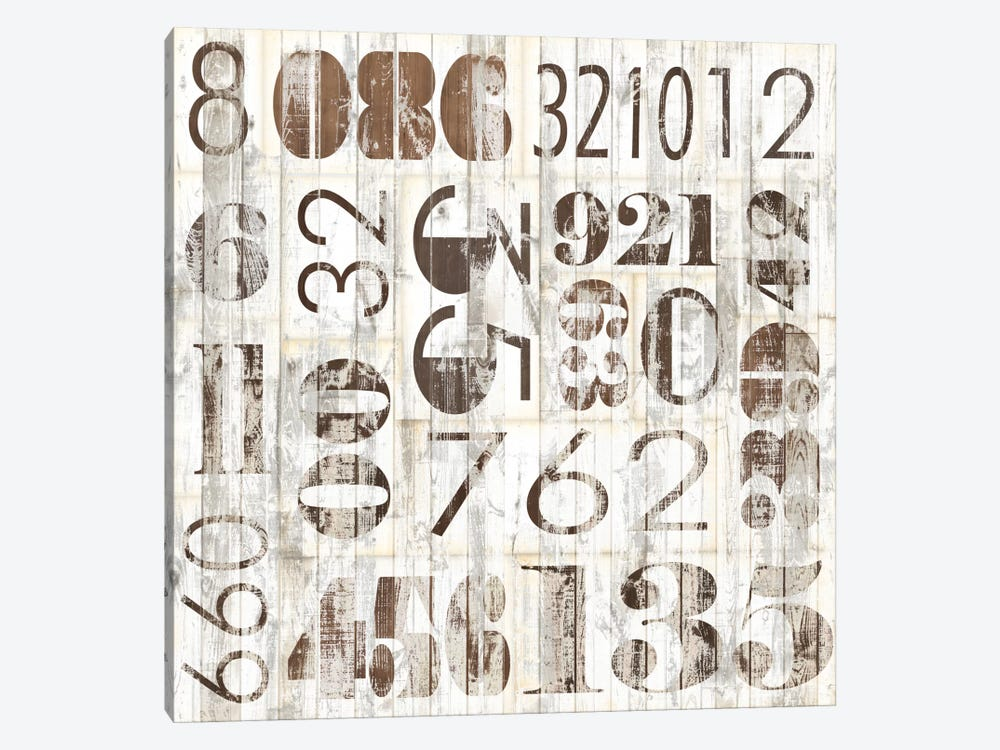 Weathered Numbers I by Jarman Fagalde 1-piece Canvas Print