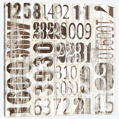 Weathered Numbers II Canvas Print #JFA9} by Jarman Fagalde Canvas Wall Art