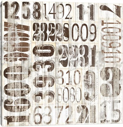 Weathered Numbers II Canvas Art Print