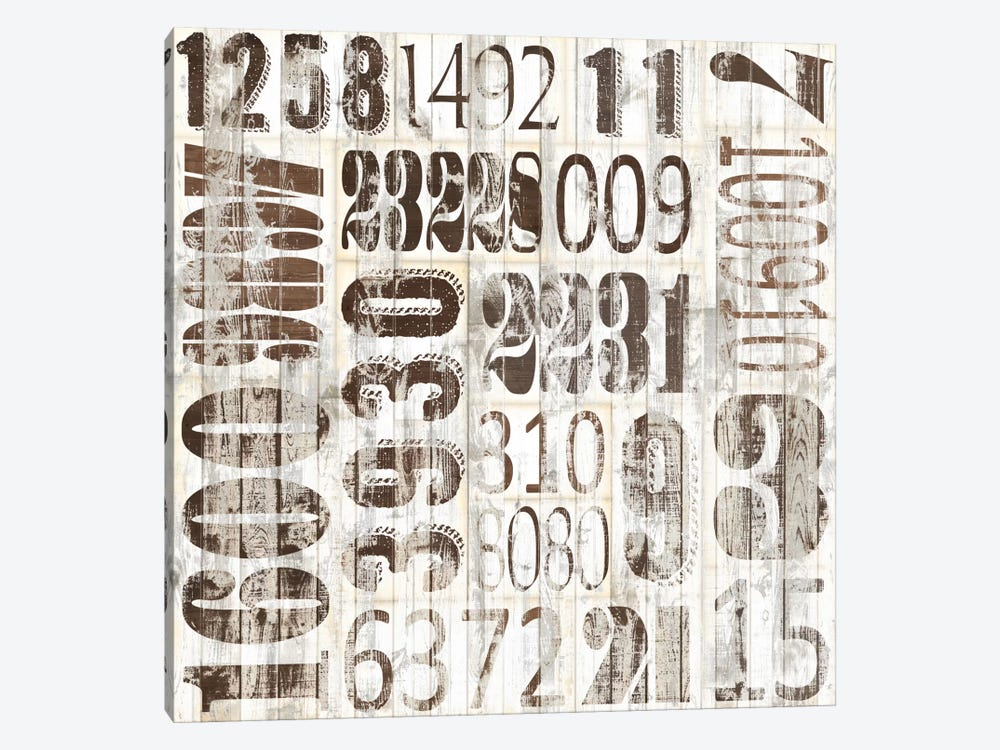 Weathered Numbers II by Jarman Fagalde 1-piece Canvas Art