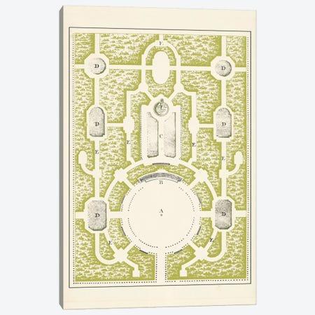 Green Garden Maze I Canvas Print #JFB1} by J.F. Blondel Canvas Art Print